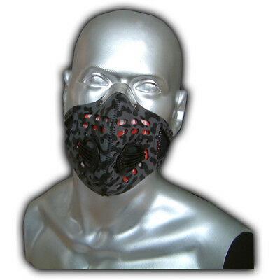 Respro Sportsta Anti-Pollution Bike Cycle Face Mask Grey Camouflage Medium