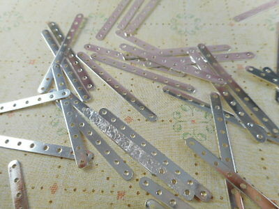 50 Silver Plated 10 Strand Spacer Bars Findings 22640