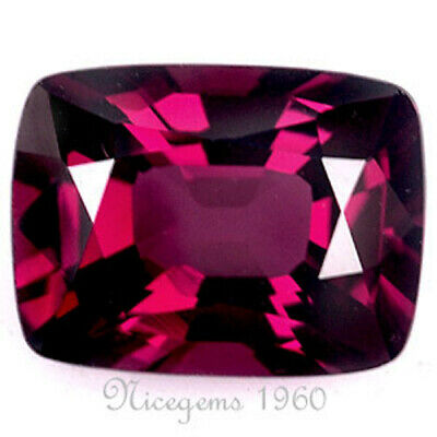 Certified! Cushion~1.94 Cts Purplish Red Color! Natural Spinel Ceylon Unheated