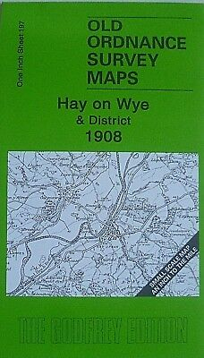OLD ORDNANCE SURVEY MAPS HAY ON WYE  DISTRICT & MAP HAY 1902 Godfrey Edition New