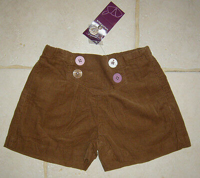 SHORT velours 9 10 ANS ENFANT fille sergent major NEUF GIRL 9 10 YEARS OLD