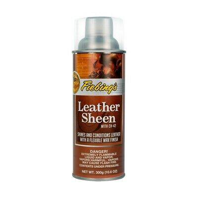 Fiebings Leather Sheen Spray 300g Instantly Shines all Smooth Leather Items