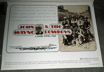 THE COWBOYS original ROLLED 1972 22x28 movie poster JOHN WAYNE