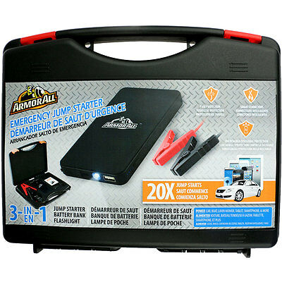 ArmorAll Jump Starter Kit with 6,000mAh Battery Bank