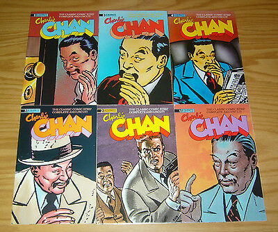 Charlie Chan #1-6 VF- complete series - classic comic strip complete and uncut