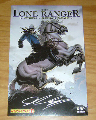 Lone Ranger #1 VF/NM rrp edition variant signed by john cassaday - dynamite 2006