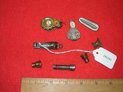 11 Miscellaneous Office Collectibles 3 Paper Clamps Clips Hook Drawer Pull Pin