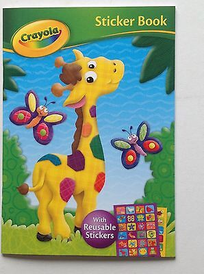 Crayola Sticker Book with reusable stickers - giraffe cover