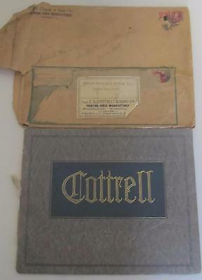 1912 The Cottrell Two Revolution Press List Of Parts Manual Orig Envelope Nice