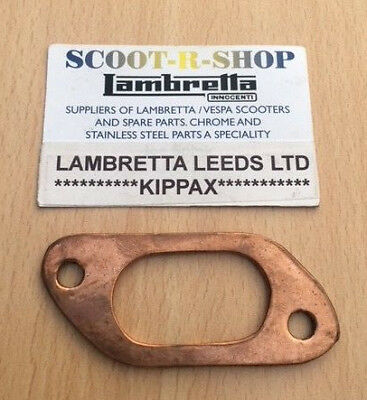 Exhaust Manifold Copper Big Bore 42Mm  Gasket For Lambretta Gp- Sx - Li - Tv