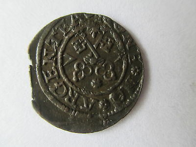 Livonia (Latvia) Riga Late Medieval Silver Hammered Schilling  Dated 1577