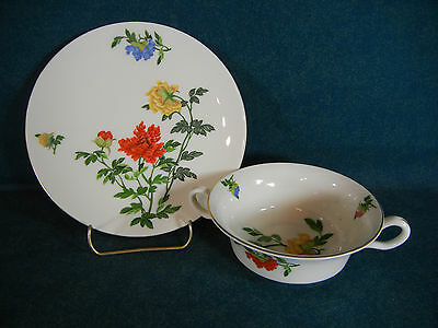 Castleton China Ma Lin Cream Soup Bowl and Under Plate Set(s)
