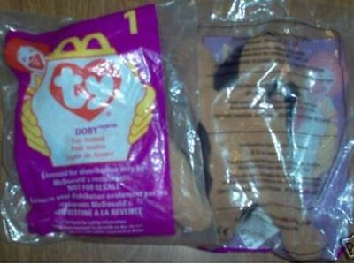 Ty Teenie Beanie Babies Doby The Doberman #1 McDonalds Retired 1998 1993 NRFB