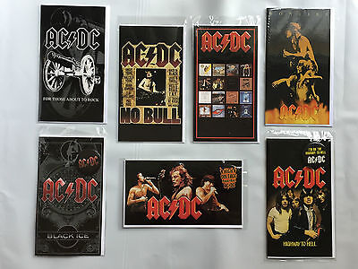 New Sealed Official AC/DC Merchandise Set of 7 Collectors Cards & Badges RRP $33