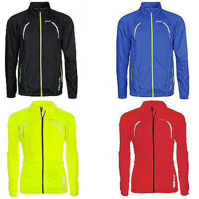 asics Mens Lightweight Convertible Full Zipped Running Sports Jacket - Large