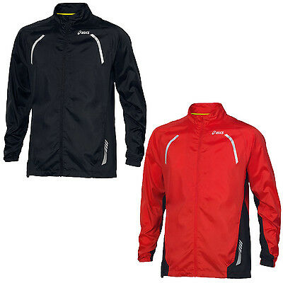 asics Mens Lightweight Full Zipped Running Sports Woven Jacket - Large