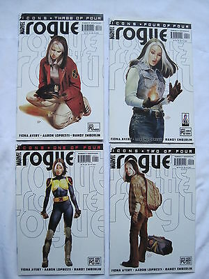 ROGUE : COMPLETE 4 ISSUE ICONS SERIES by AVERY & LOPRESTI. X-MEN. MARVEL. 2001