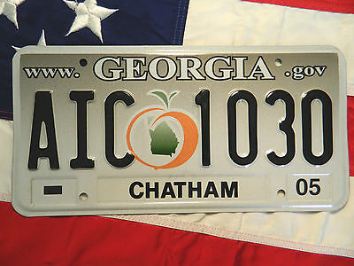 GEORGIA license licence plate plates USA NUMBER AMERICAN REGISTRATION