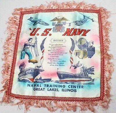Home Front:  Pillow Cover - Naval Training Center Great Lakes Illinois