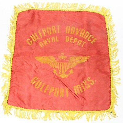Home Front:  Pillow Cover - Gulfport Advance Naval Depot
