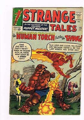 Strange Tales # 116 In the Clutches of the Puppet Master !  grade 4.0 hot book !