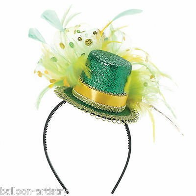 Mini St. Patrick's Day Ireland Irish Party Feather Top Hat Fascinator Headband