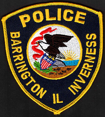 Barrington Inverness Illinois Police Shoulder Patch