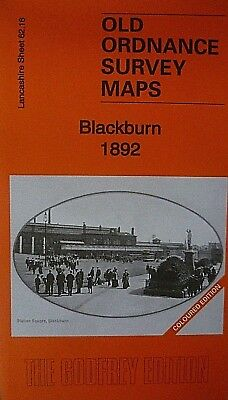 Old Ordnance Survey Maps Blackburn Lancashire 1892 Sheet 62.16 Godfrey Edition