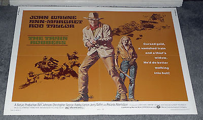 THE TRAIN ROBBERS original 1973 22x28 movie poster JOHN WAYNE/ANN-MARGRET