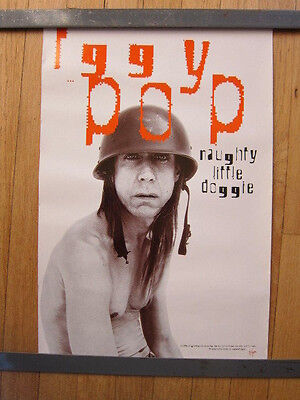 IGGY POP Naughty Little Doggie promo poster 12x18