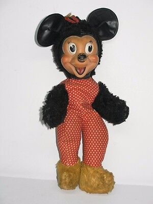 Antique Early Wdp Walt Disney Mickey Mouse Minnie Mouse Doll Toy