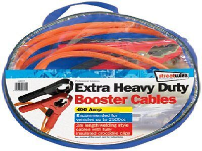 Heavy Duty Jump Leads 400Amp Booster Cables 3Mtr Recommended For 2500Cc Swbc7/3
