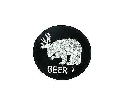 Patch backpack airsoft funny embroidered iron on beer? Bear beer