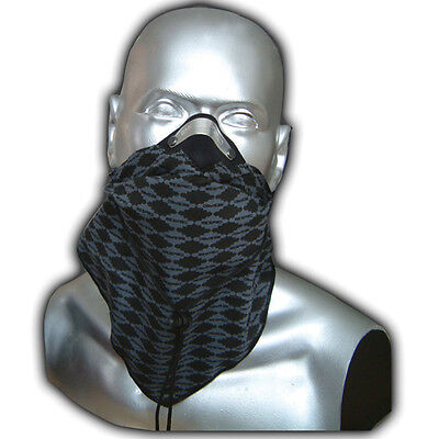 Respro Bandit Anti-Pollution Bike Cycle Cycling Face Mask Black/Grey Diamonds