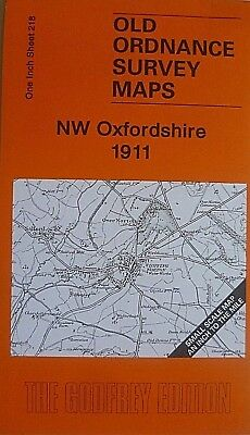 Old Ordnance Survey Map Nw Oxfordshire 1911 & Map Village  Salford S 218 New