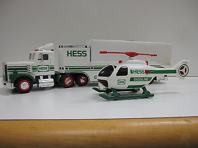 Hess Toy Truck with Helicopter in Box - Older Model