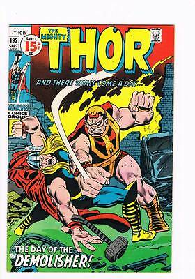 Thor # 192 The Day of the Demolisher !  grade 7.5 scarce hot book !!