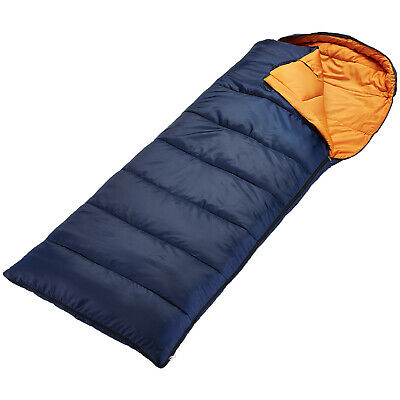 Skandika Iceland Envelope Sleeping Bag Rated To -10°C Rrp £40 Blue Right New