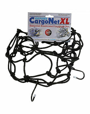 Oxford Motorcycle Strong Elasticated Extra Large Xl Cargo Net - Black