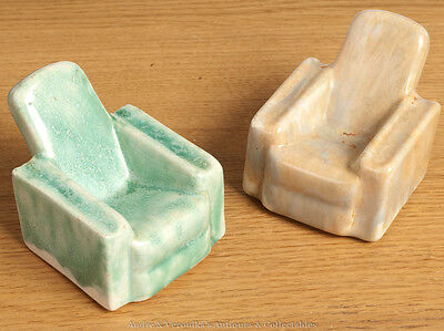 2 Armchair PIPE RESTs CARRIGALINE Pottery, Co Cork CARRIG WARE Irish Studio Art