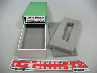 AE349-0,5# Empty box for Locomotive N Overland Models Western Maryland 3-Truck