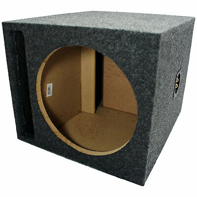Car Audio Slot Ported Single 12 Subwoofer Labyrinth Bass SPL Vented Sub Box