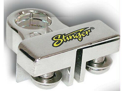"Stinger SPT53103 Chrome Positive Top Post Battery Terminal (2) 5/16"" Ring Outs"