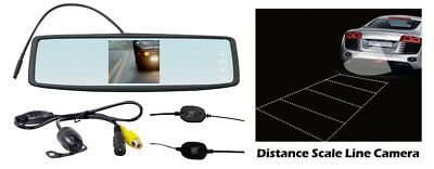 "Pyle Car Audio PLCM4300WIR New Rear View Mirror Camera System W/ 4.3""Tft Screen"
