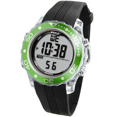 Pyle Sport PSNKW30GN New Diving Watch W/ Dive Duration & Depth Green Color New