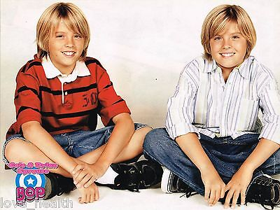 """COLE & DYLAN SPROUSE - FERGIE - CLOSE-UP - 11"""" x 8"""" MAGAZINE PINUP - POSTER"""