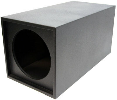 "Universal Armor Coated Single 12"" Vented Tube Subwoofer Enclosure Sub Box New"