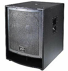 Peavey QW 118 One Low Rider 18-Inch Woofer 3200 Watts Black Finish 571290 New