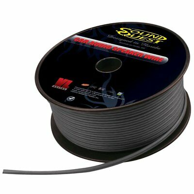 Sound Quest By Stinger SQVLS181B 18 Gauge 1000 Feet Spool Black Speaker Wire New