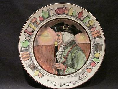 """The Doctor Royal Doulton Vintage Series Ware 10"""" Plate #D6281 Black Hat"""